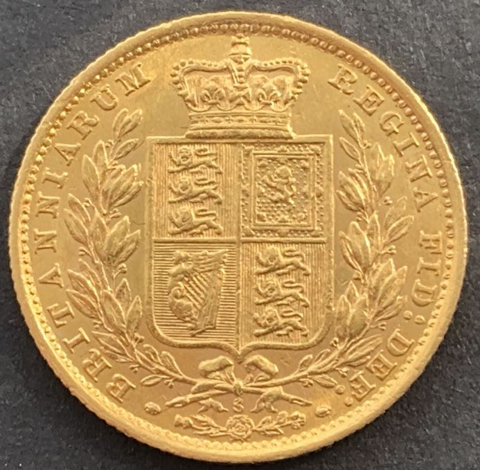 1884 Gold  Sovereign Coin Sydney Mint